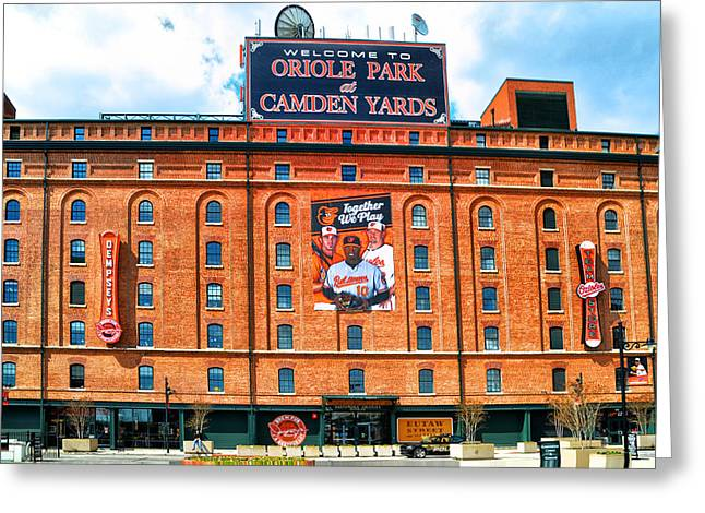 Camden Yards Greeting Card by Bill Cannon