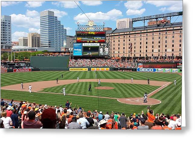 National Past Time Greeting Cards - Camden Yards Greeting Card by Ross Ansel