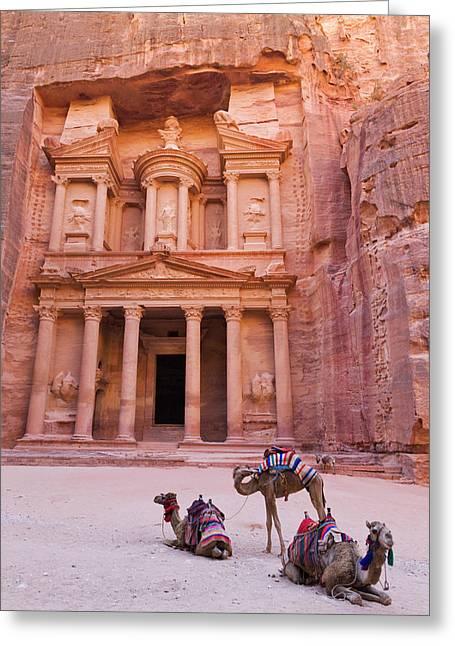 Camel At The Facade Of Treasury (al Greeting Card by Keren Su