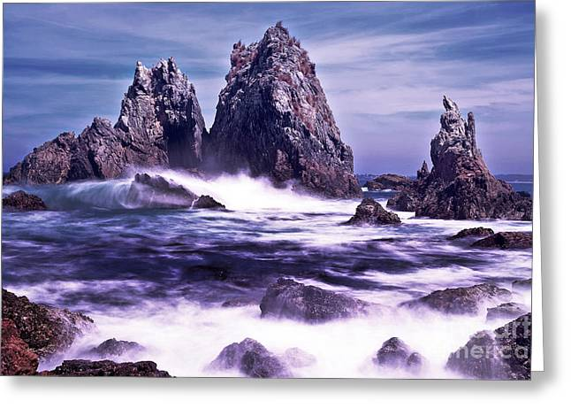 Ocean Landscape Greeting Cards - Camel Rock  Greeting Card by Vanessa  Sapsford