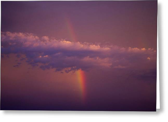 Scottsdale Lightning Greeting Cards - Camelback Sky Rainbow Greeting Card by Cathy Franklin