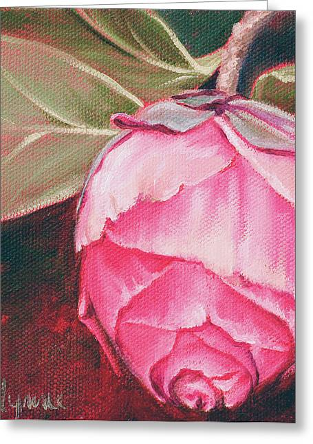 Carlynne Hershberger Greeting Cards - Camelia Greeting Card by Carlynne Hershberger