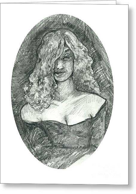 Cameo Drawings Greeting Cards - Cameo Greeting Card by Joseph Wetzel