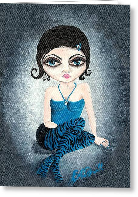 Oddballartco Greeting Cards - Cameo Greeting Card by Oddball Art Co by Lizzy Love