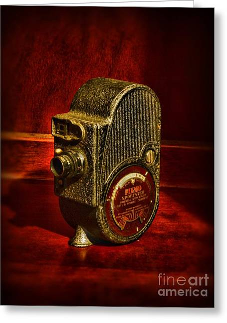 Camera - Bell And Howell Film Camera Greeting Card by Paul Ward