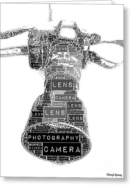 Camera Lens Greeting Cards - Camera Greeting Card by Cheryl Young