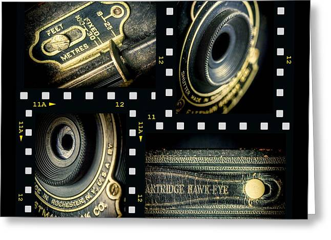 Aperture Photographs Greeting Cards - Camera collage Greeting Card by Rudy Umans
