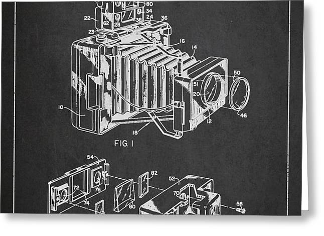 Camera Patent Drawing From 1963 Greeting Card by Aged Pixel