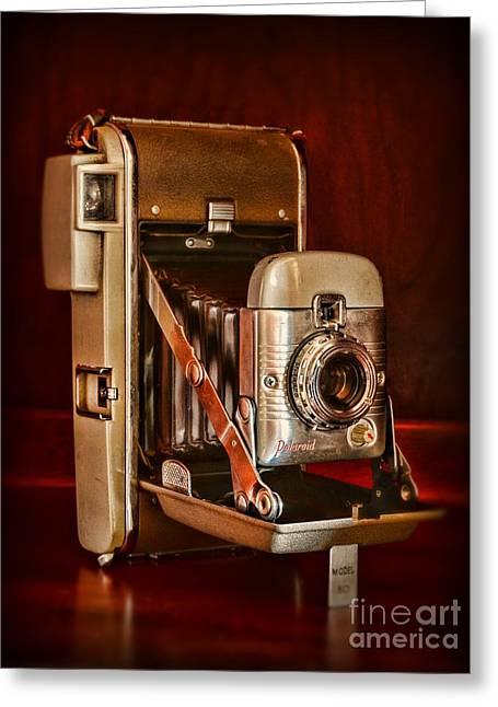 Polaroid Camera Greeting Cards - Camera - vintage Polaroid Land Camera 80 Greeting Card by Paul Ward
