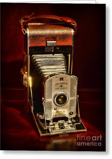 Instant Camera Greeting Cards - Camera - Vintage Polaroid Land Camera Model 95 Greeting Card by Paul Ward