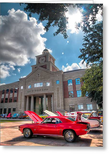 Car Images Greeting Cards - Camero in the Courtyard Greeting Card by Tim Stanley