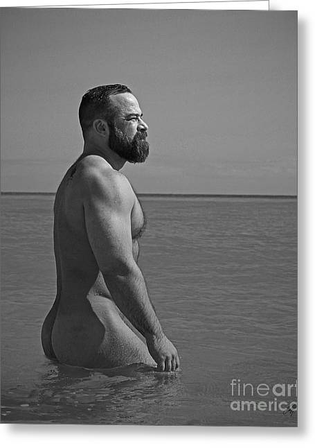 Nudist Greeting Cards - Cameron at the beach Greeting Card by Chris  Lopez