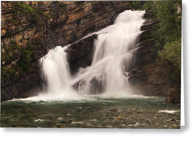 Geology Photographs Greeting Cards - Cameron Falls Greeting Card by Mark Kiver