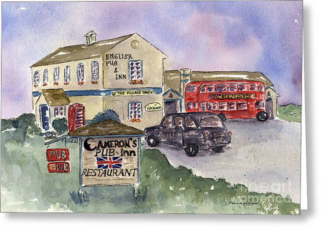 Half Moon Bay Greeting Cards - Camerons Pub and Restaurant Greeting Card by Diane Thornton