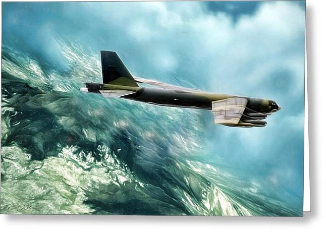 B-52 Greeting Cards - Camo G Greeting Card by Peter Chilelli