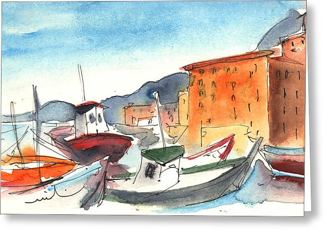 Camogli In Italy 02 Greeting Card by Miki De Goodaboom