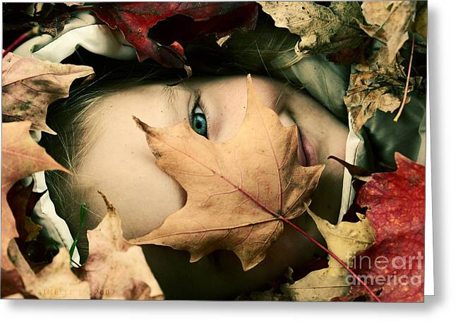 Autumn Prints Photographs Greeting Cards - Camouflage Greeting Card by Aimelle
