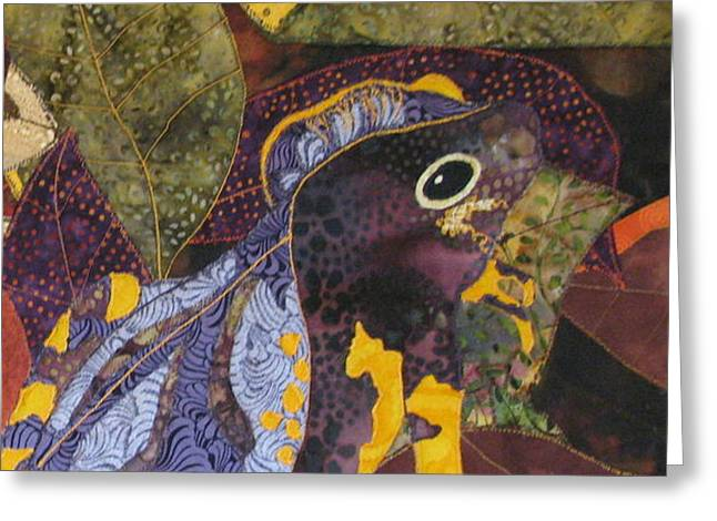 Camouflaged Forest Toad Greeting Card by Lynda K Boardman