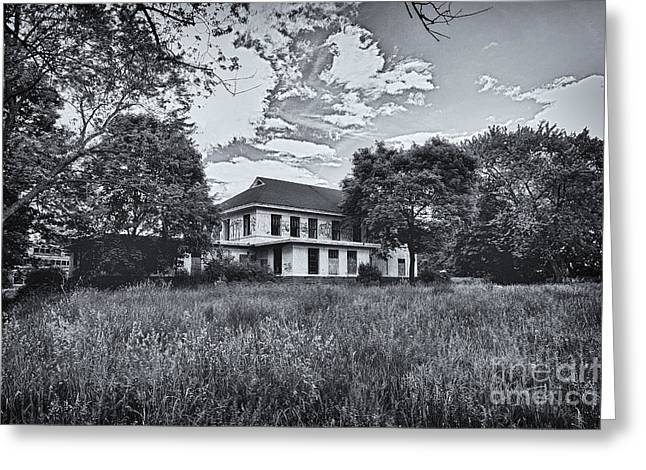 Abandoned School House. Greeting Cards - Camp 30 Number 12 Greeting Card by Steve Nelson