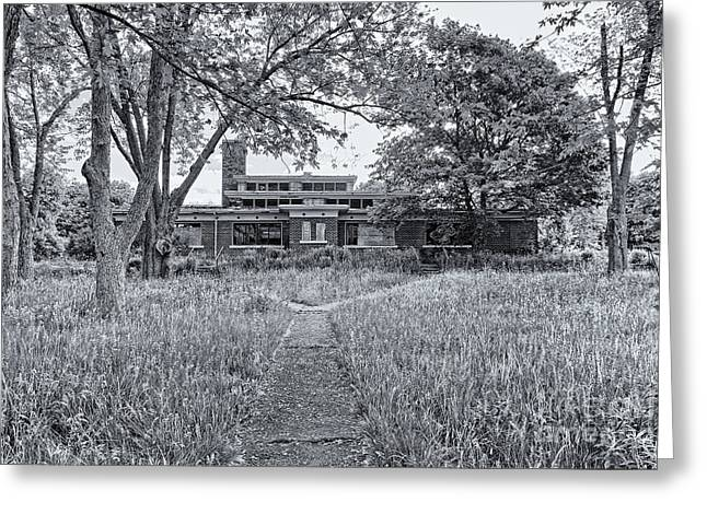 Abandoned School House. Greeting Cards - Camp 30 Number 16 Greeting Card by Steve Nelson