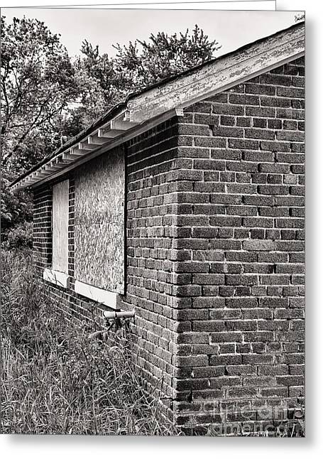Abandoned School House. Greeting Cards - Camp 30 Number 23 Greeting Card by Steve Nelson