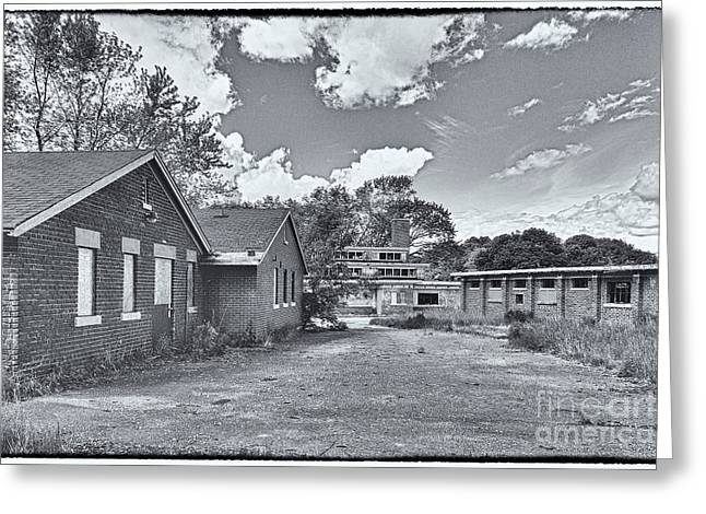 Abandoned School House. Greeting Cards - Camp 30 Number 25 Greeting Card by Steve Nelson