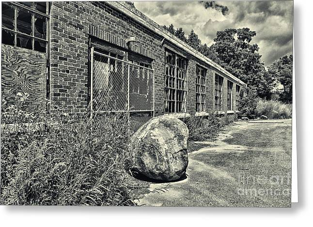 Abandoned School House. Greeting Cards - Camp 30 Number 26 Greeting Card by Steve Nelson