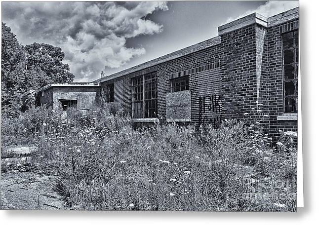 Abandoned School House. Greeting Cards - Camp 30 Number 27 Greeting Card by Steve Nelson