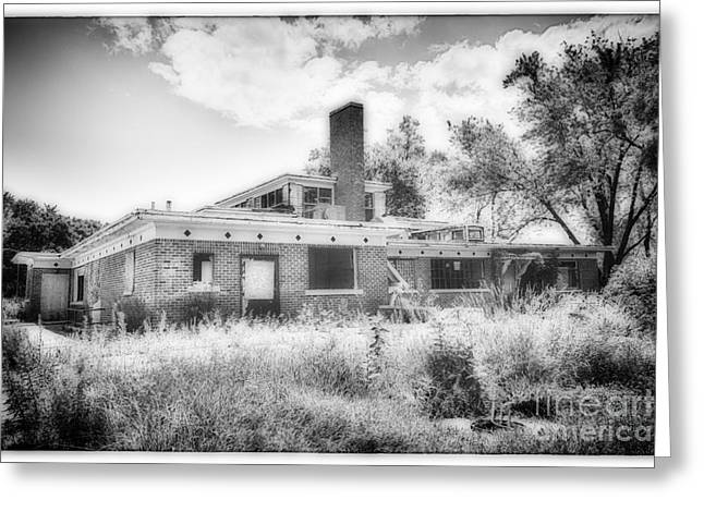 Abandoned School House. Greeting Cards - Camp 30 Number 28 Greeting Card by Steve Nelson