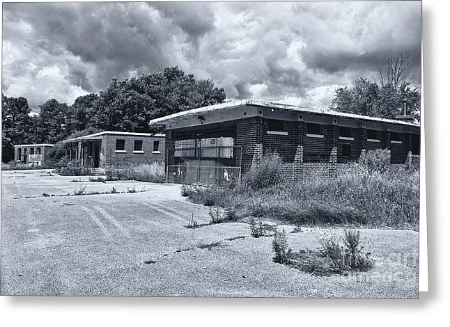 Abandoned School House. Greeting Cards - Camp 30 Number 29 Greeting Card by Steve Nelson