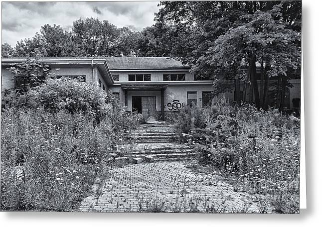 Abandoned School House. Greeting Cards - Camp 30 Number 34 Greeting Card by Steve Nelson