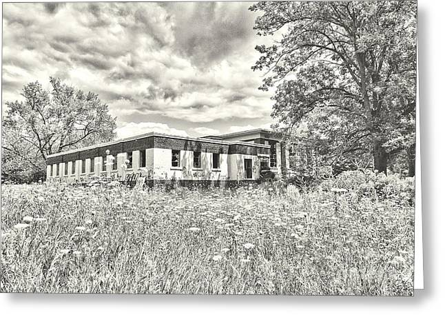 Abandoned School House. Greeting Cards - Camp 30 Number 38 Greeting Card by Steve Nelson
