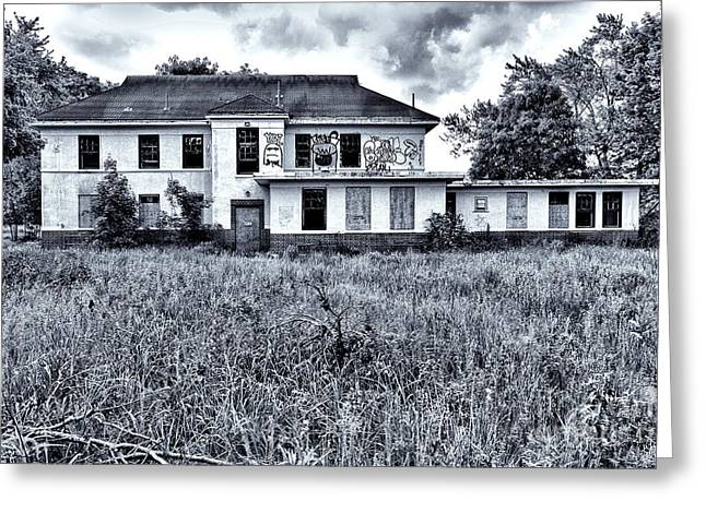Abandoned School House. Greeting Cards - Camp 30 Number 9 Greeting Card by Steve Nelson