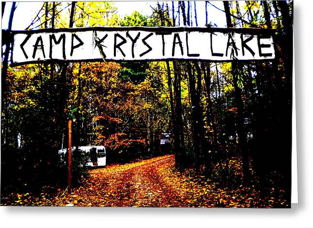 Jason Voorhees Greeting Cards - Camp Crystal Lake Greeting Card by James Ryan
