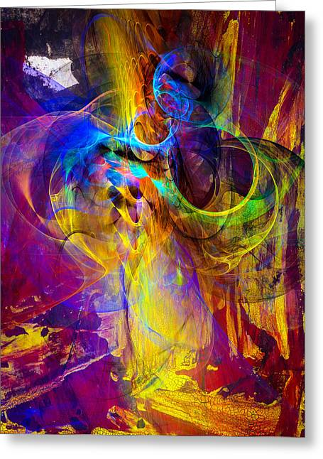 Science Greeting Cards - Camp fire story Greeting Card by Modern Art Prints