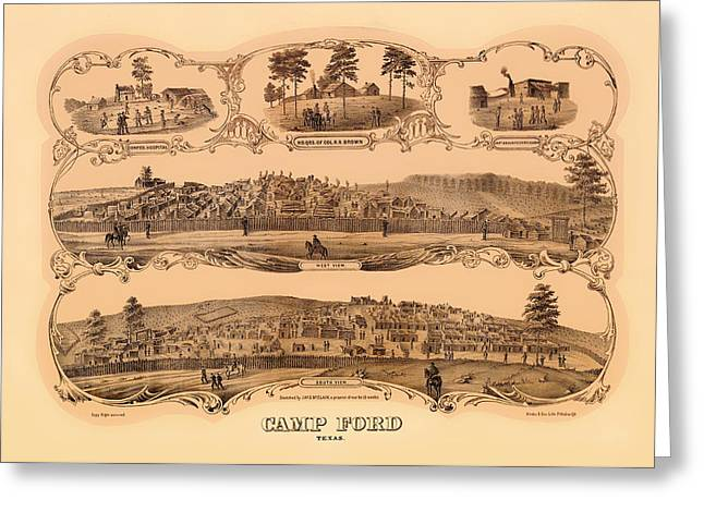 Post-civil War Greeting Cards - Camp Ford Texas Greeting Card by Mountain Dreams