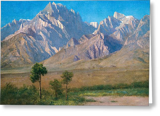 Patriotism Paintings Greeting Cards - Camp Independence Colorado Greeting Card by Albert Bierstadt