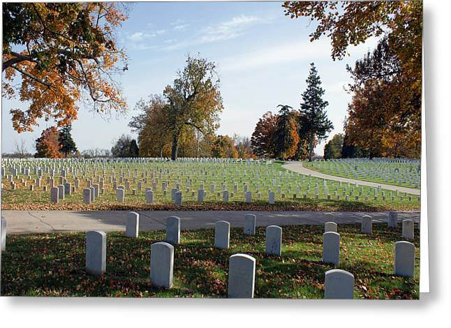 Civil War Site Greeting Cards - Camp Nelson National Cemetery Greeting Card by Roger Potts