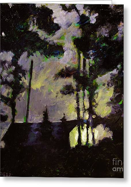 Lake Como Paintings Greeting Cards - Camp Wayne Reveille Greeting Card by Charlie Spear