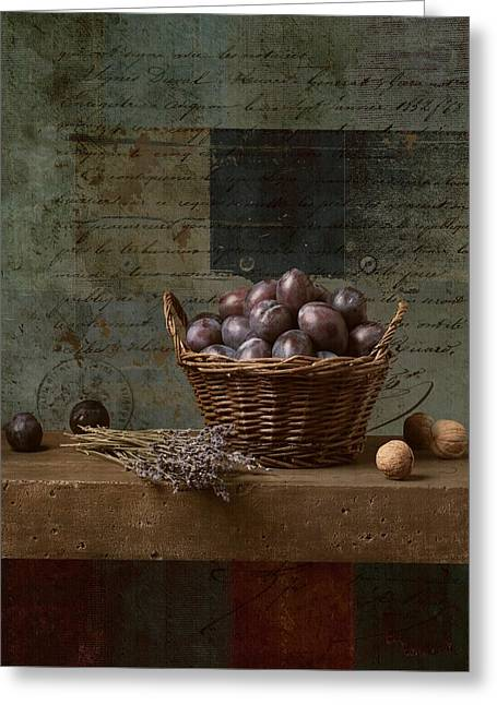 Food Digital Greeting Cards - Campagnard - Rustic Still Life - s01otxt1ds1 Greeting Card by Variance Collections