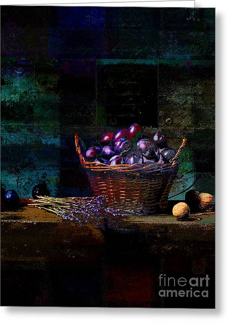 Antique Digital Greeting Cards - Campagnard - Rustic Still Life - s02bd Greeting Card by Variance Collections