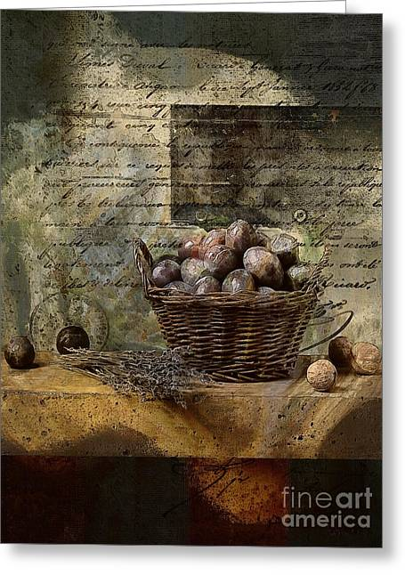 Food Digital Greeting Cards - Campagnard - Rustic Still Life - s02sp Greeting Card by Variance Collections
