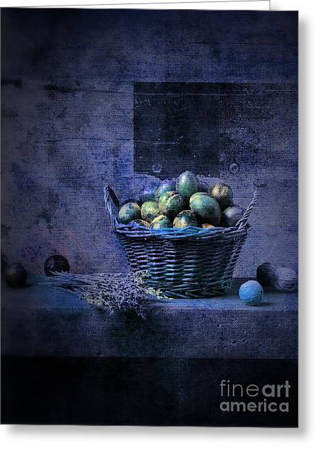 Violet Art Greeting Cards - Campagnard - Rustic Still Life - s04ct01 Greeting Card by Variance Collections