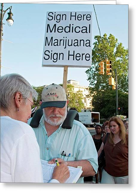 Campaign To Legalise Medical Marijuana Greeting Card by Jim West