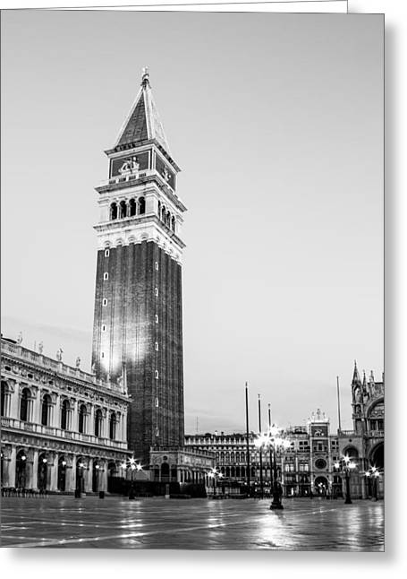Campanile Di San Marco Greeting Cards - Campanile Di San Marco On The Famous St. Marks Square Greeting Card by Leander Nardin