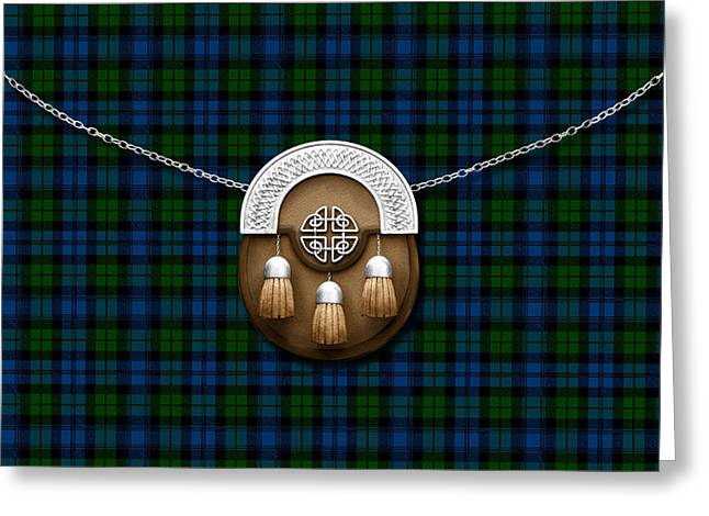 Campbell Clan Greeting Cards - Campbell Tartan And Sporran Greeting Card by Chris MacDonald