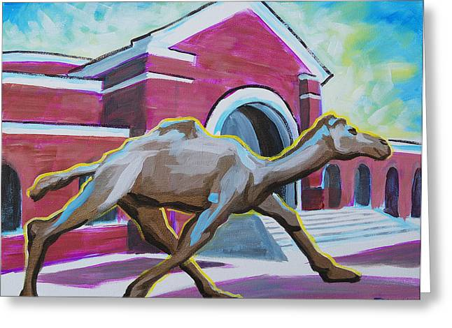 Mascots Paintings Greeting Cards - Camel Greeting Card by Tommy Midyette