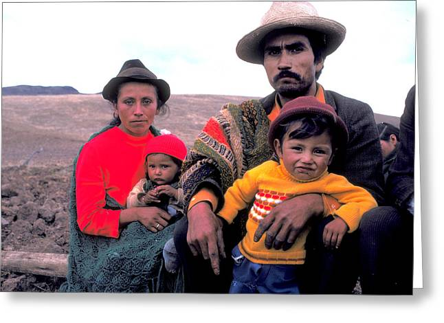 Campesino Greeting Cards - Campesino Family Greeting Card by Carl Purcell
