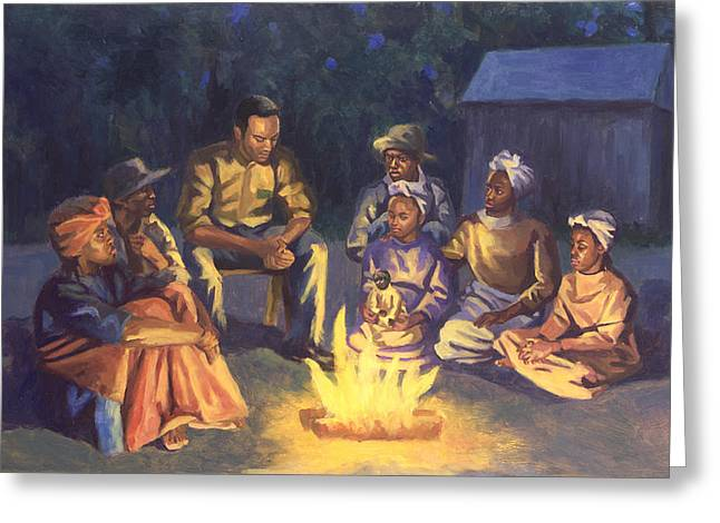Camps Greeting Cards - Campfire Stories Greeting Card by Colin Bootman