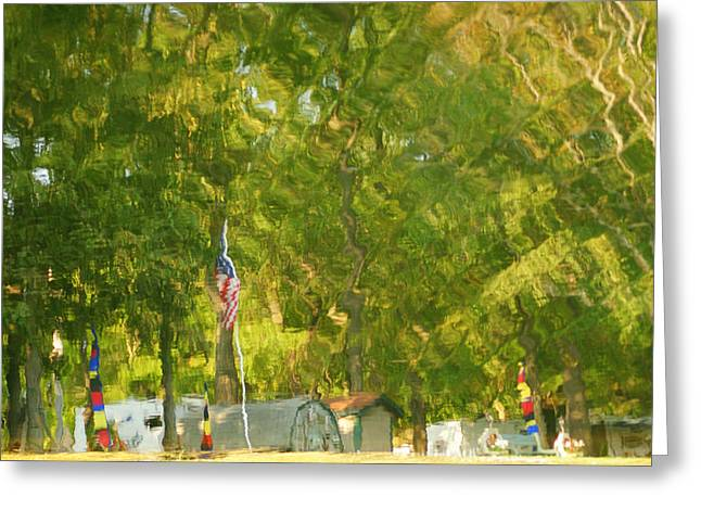 Hamburger Greeting Cards - Campground Abstract Greeting Card by Frozen in Time Fine Art Photography